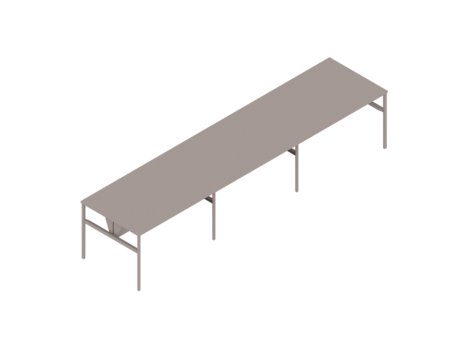 A generic rendering - OE1 Communal Table–Counter Height–3 Piece–Double Sided