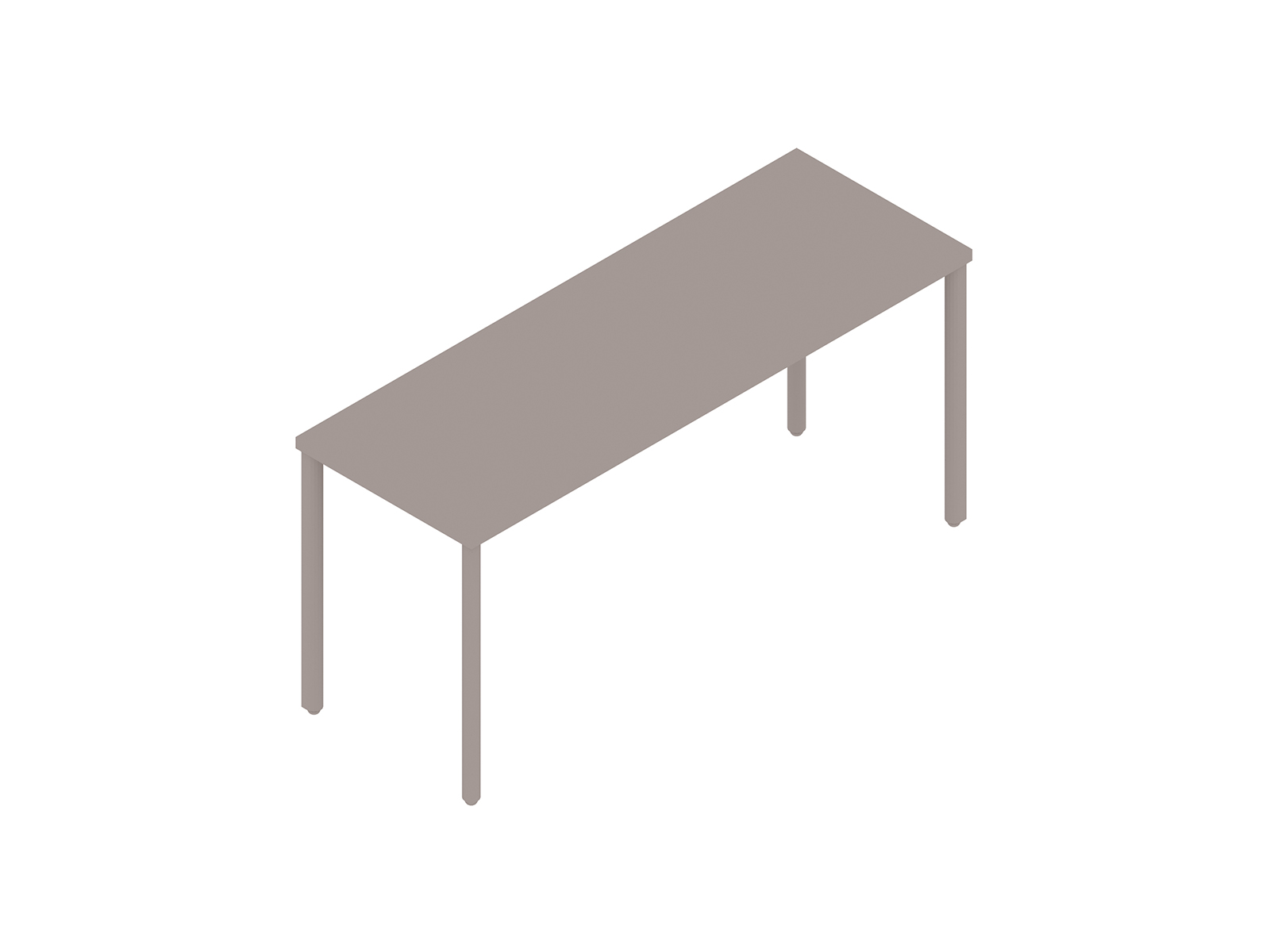 A generic rendering - OE1 Communal Table–Seated Height–1 Piece–Single Sided