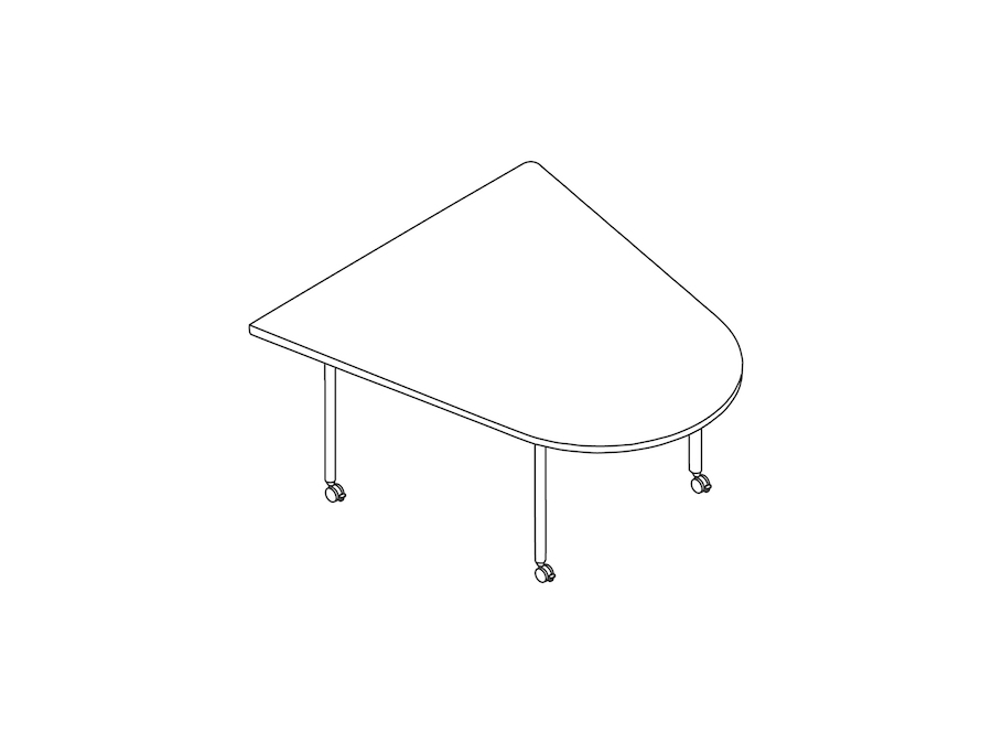 A line drawing - OE1 Huddle Table