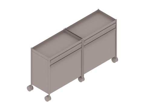 A generic rendering - OE1 Storage Trolley–Individual–Mobile–Extended