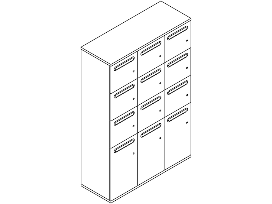 A line drawing - Paragraph Storage