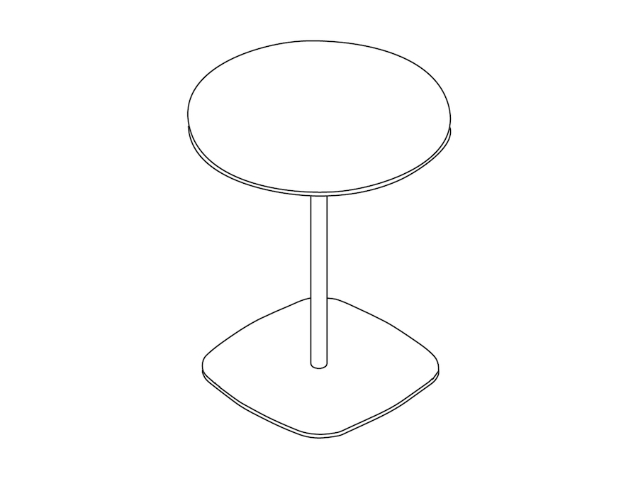 A line drawing - Ped Bar Height Table–Round