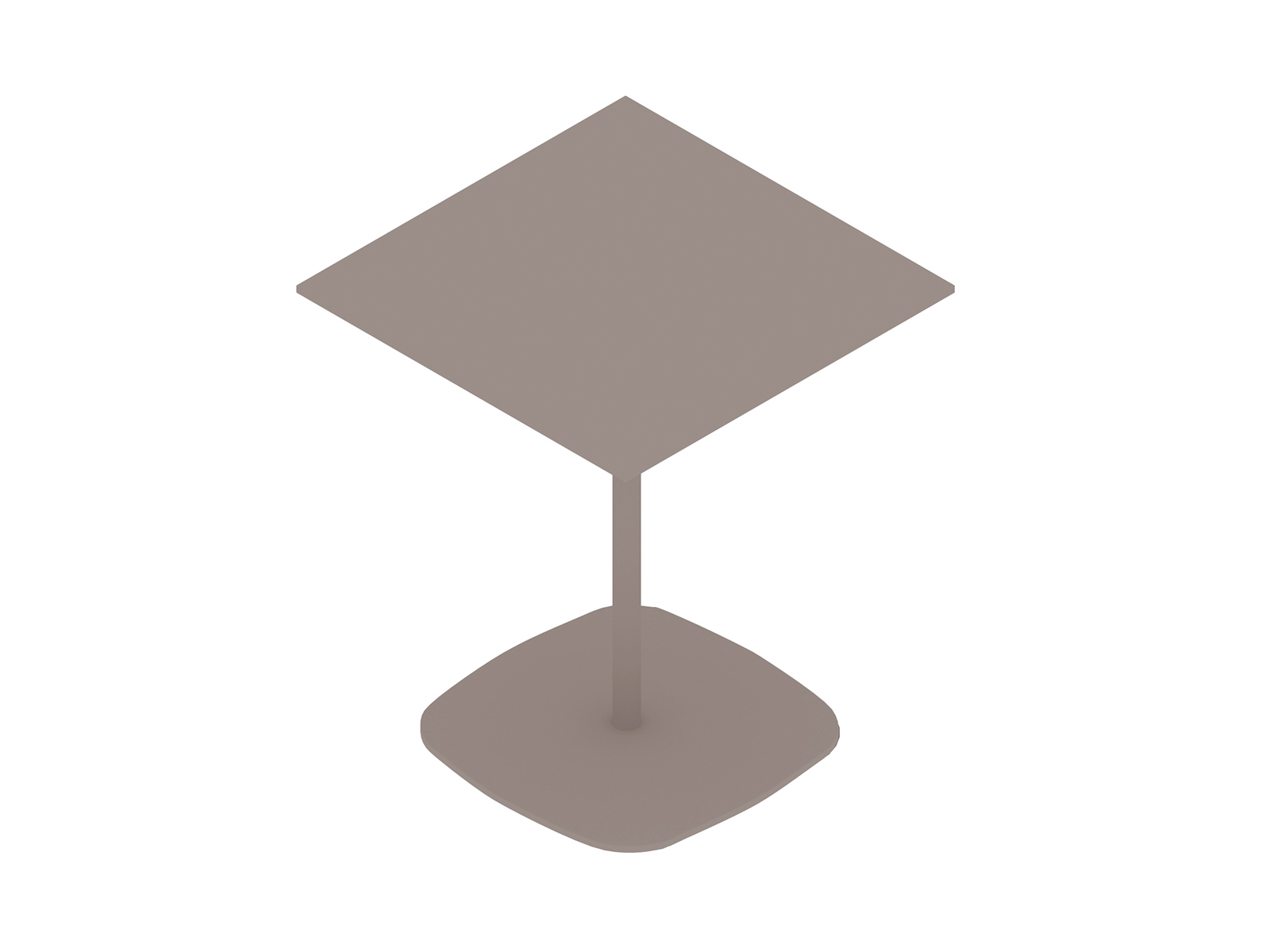 A generic rendering - Ped Bar Height Table–Square