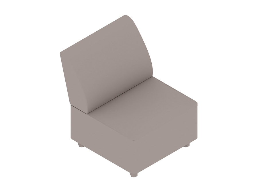 A generic rendering - Plex Chair–Armless