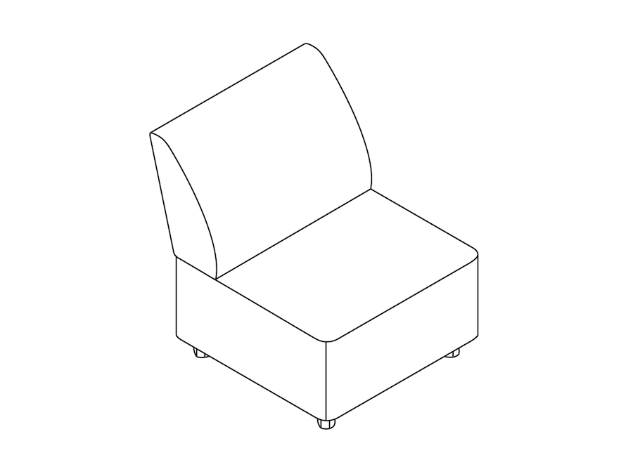 A line drawing - Plex Chair–Armless