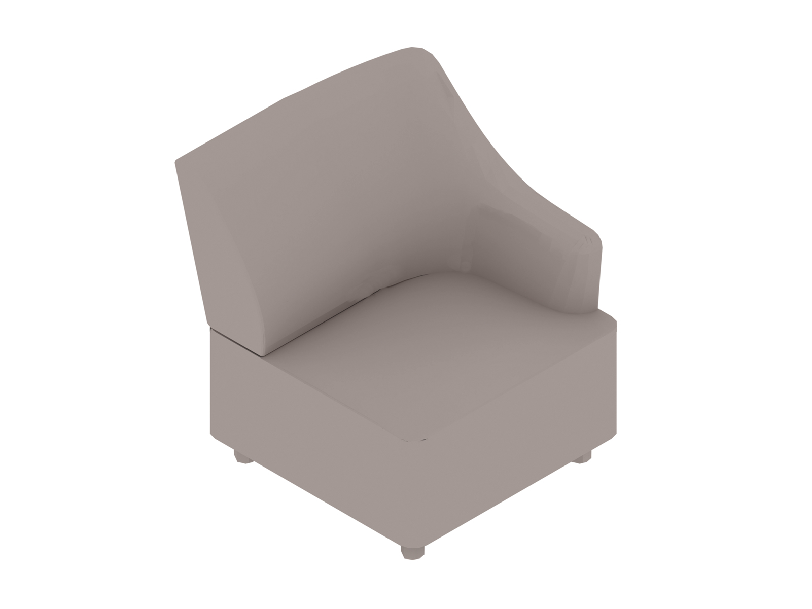 A generic rendering - Plex Chair–Left Arm