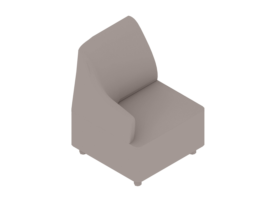 A generic rendering - Plex Chair–Right Arm