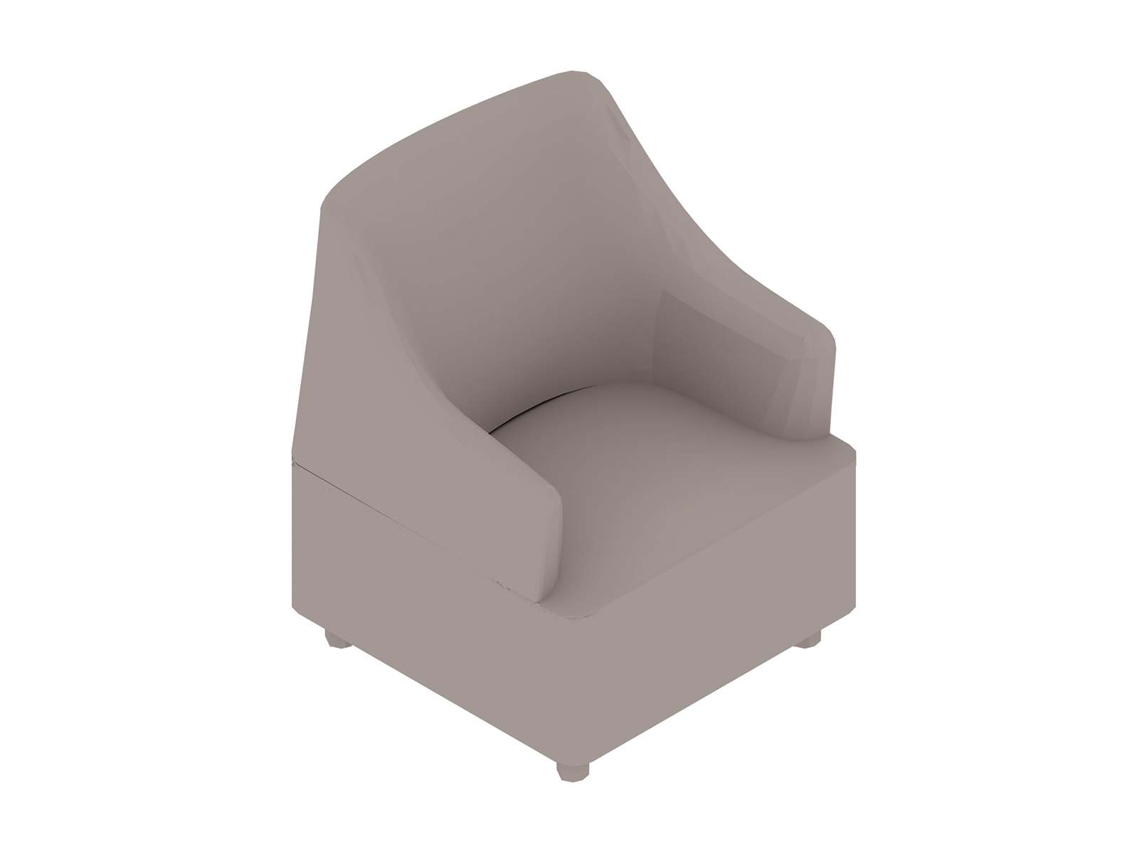 A generic rendering - Plex Club Chair