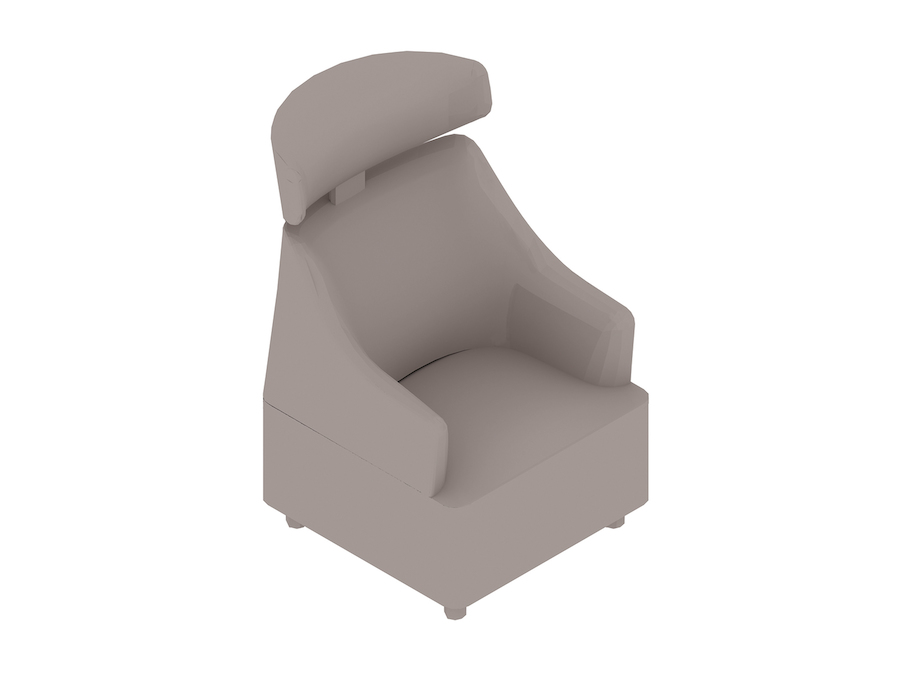 A generic rendering - Plex Club Chair–With Headrest