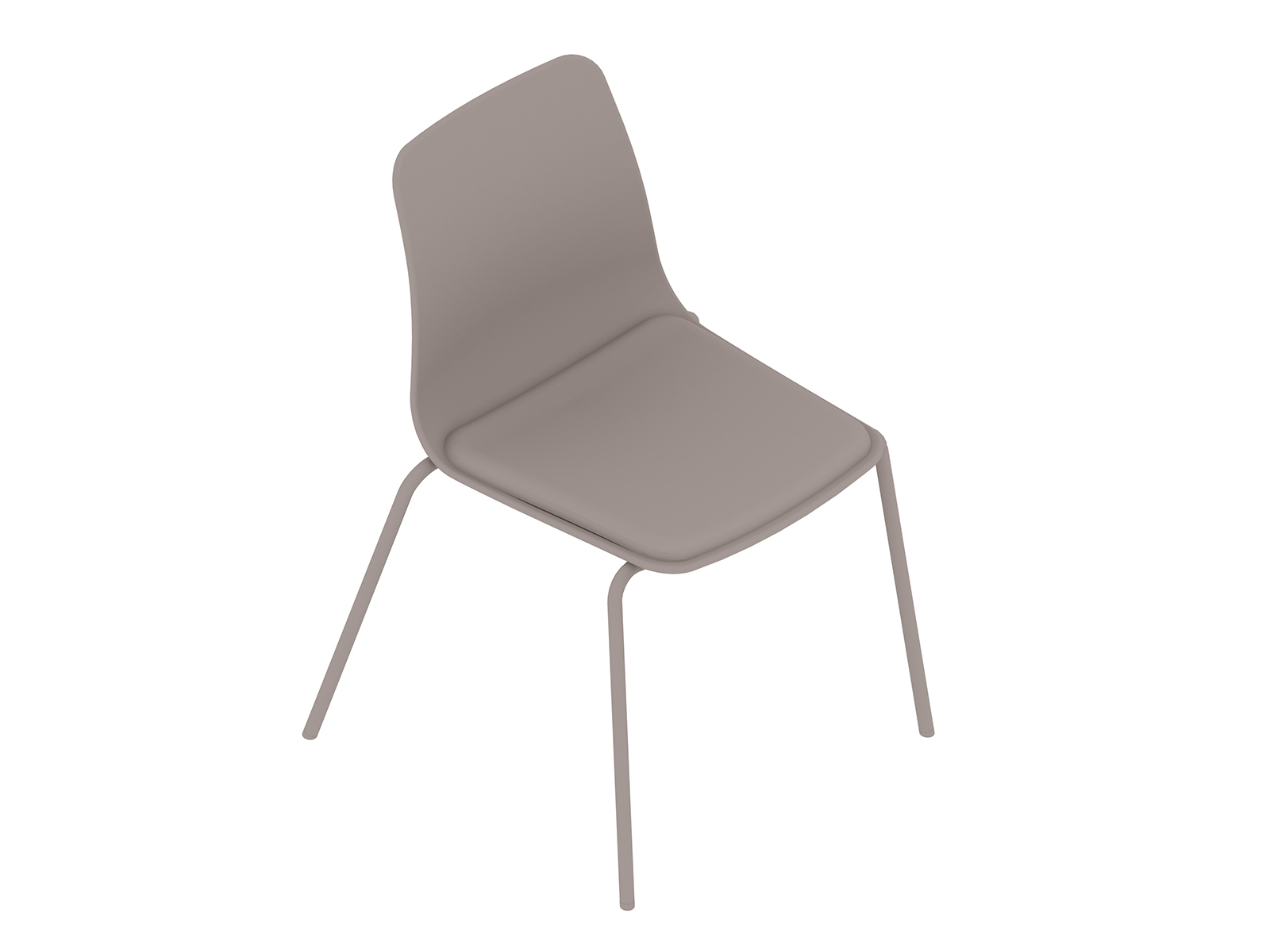 A generic rendering - Polly Side Chair–Armless–4-Leg Base–Upholstered Seat Pad