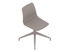 A generic rendering - Polly Side Chair–Armless–4-Star Base–Upholstered Seat Pad
