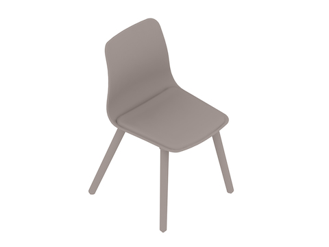A generic rendering - Polly Side Chair–Armless–Dowel Base–Upholstered Seat Pad