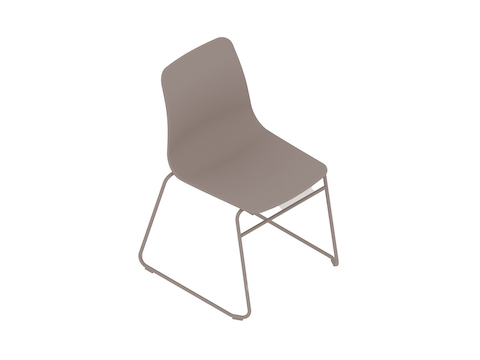 A generic rendering - Polly Side Chair–Armless–Sled Base–Nonupholstered