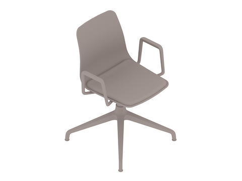 A generic rendering - Polly Side Chair–With Arms–4-Star Base–Upholstered Seat Pad