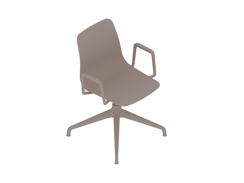 A generic rendering - Polly Side Chair–With Arms–4-Star Swivel Base