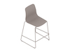 A generic rendering - Polly Stool–Counter Height–Sled Base