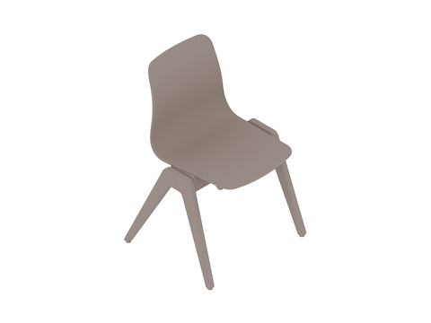 A generic rendering - Polly Wood Chair–Armless–Nonupholstered