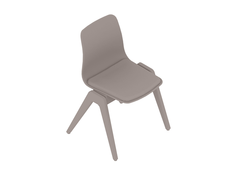 A generic rendering - Polly Wood Chair–Armless–Upholstered Seat Pad