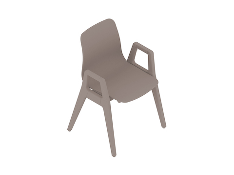 A generic rendering - Polly Wood Chair–With Arms–Nonupholstered