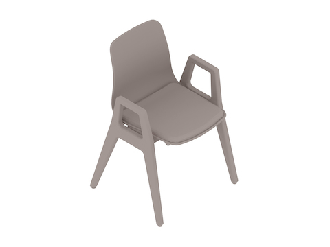 A generic rendering - Polly Wood Chair–With Arms–Upholstered Seat Pad