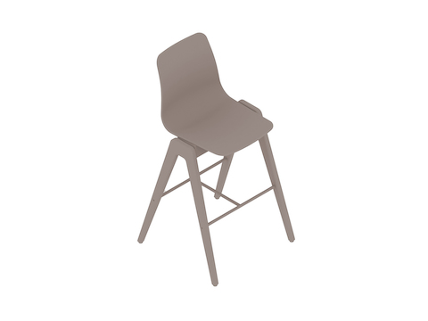 A generic rendering - Polly Wood Stool–Bar Height