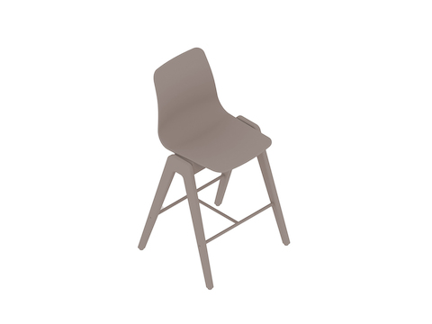 A generic rendering - Polly Wood Stool–Counter Height
