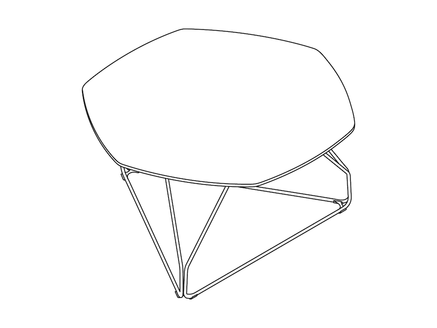 A line drawing - Polygon Wire Table–Hexagon