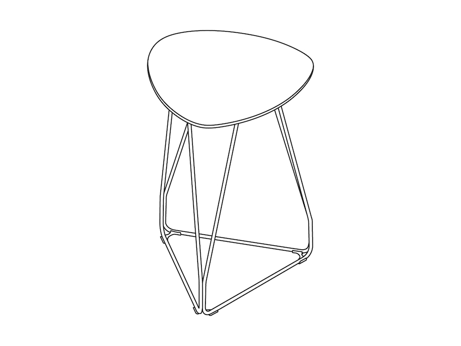 A line drawing - Polygon Wire Table–Triangle