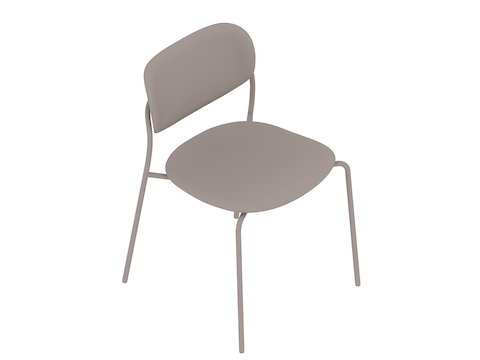 A generic rendering - Portrait Chair–Armless–Upholstered