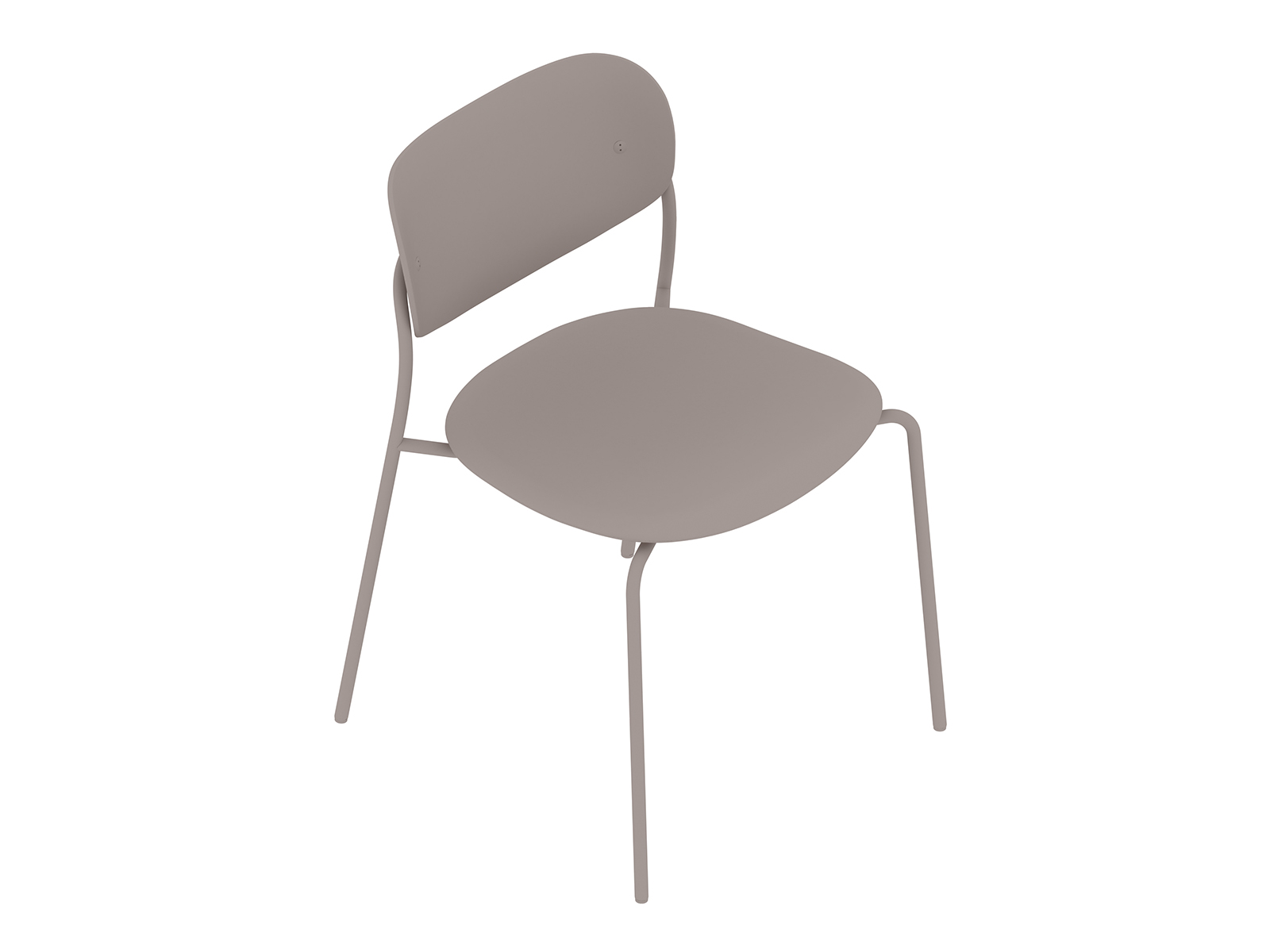 A generic rendering - Portrait Chair–Armless–Upholstered Seat–Wood Back