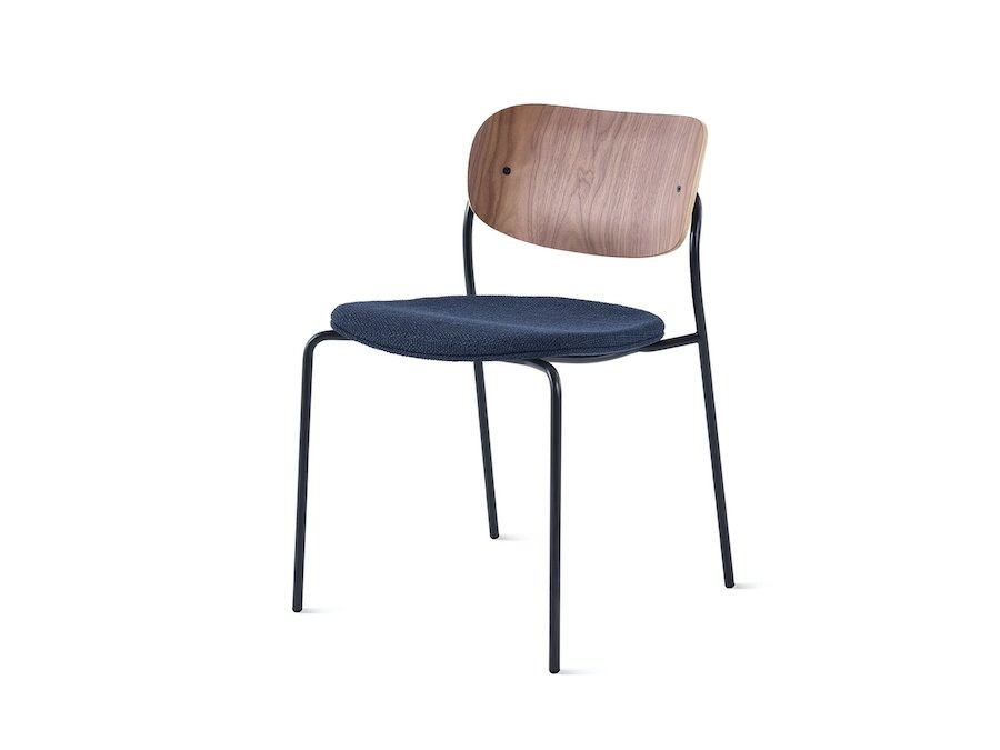 A photo - Portrait Chair–Armless–Upholstered Seat–Wood Back