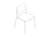 A line drawing - Portrait Chair–Armless–Upholstered Seat–Wood Back
