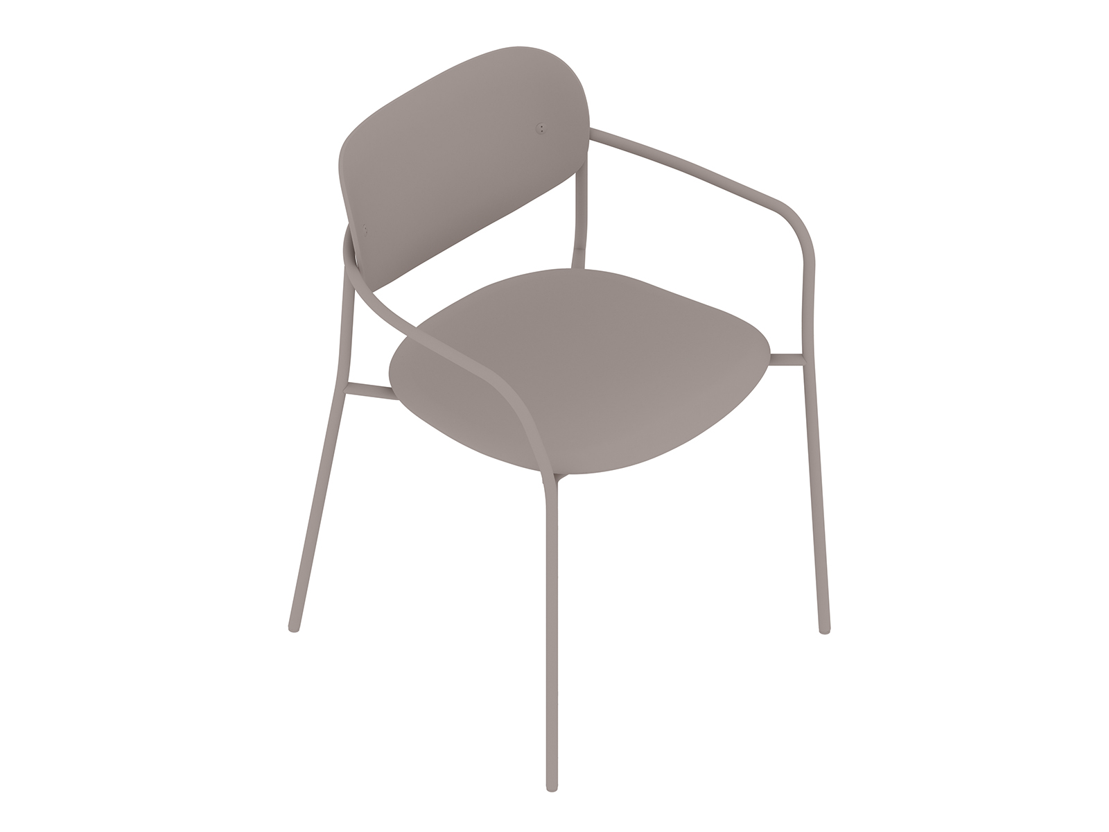 A generic rendering - Portrait Chair–With Arms–Upholstered Seat–Wood Back