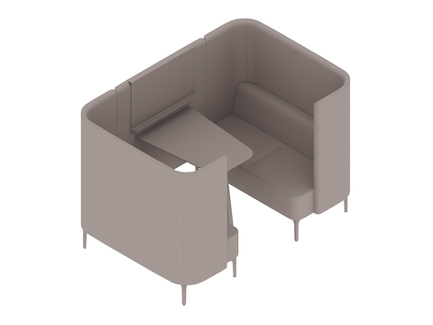 A generic rendering - Pullman Booth–2 Seat