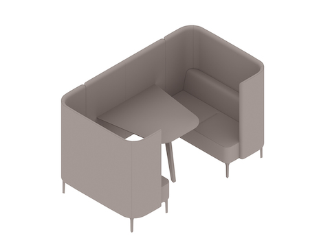 A generic rendering - Pullman Booth–2 Seat–Wide