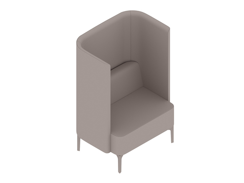 A generic rendering - Pullman Chair–4-Leg Base