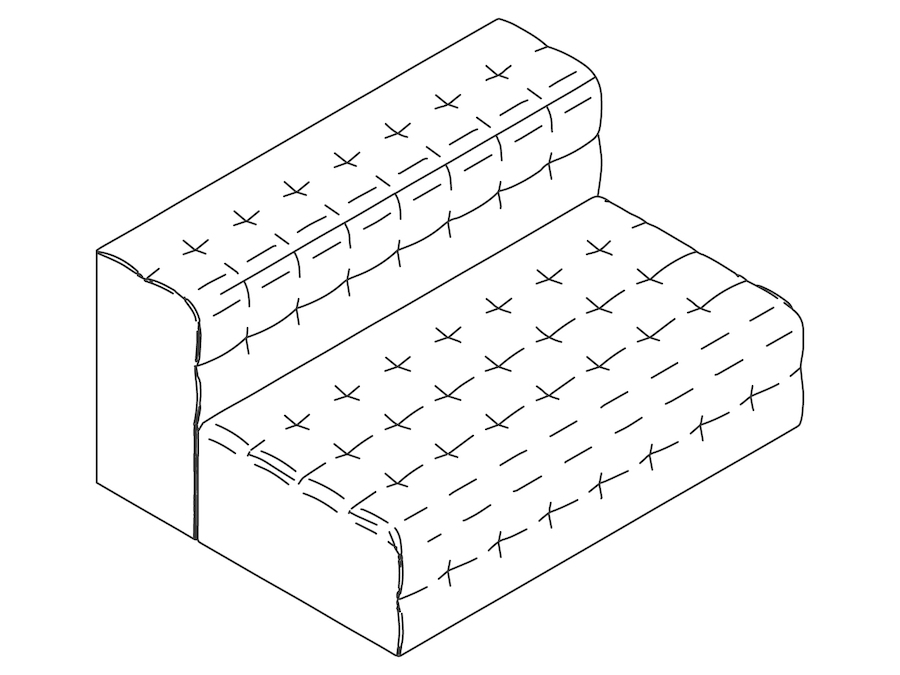 A line drawing - Rapport Settee–Armless