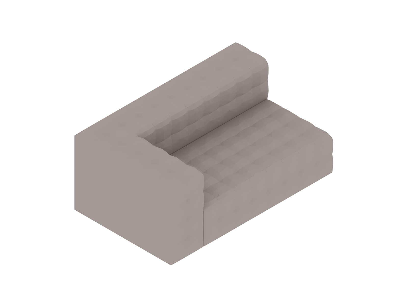A generic rendering - Rapport Settee–Right Arm