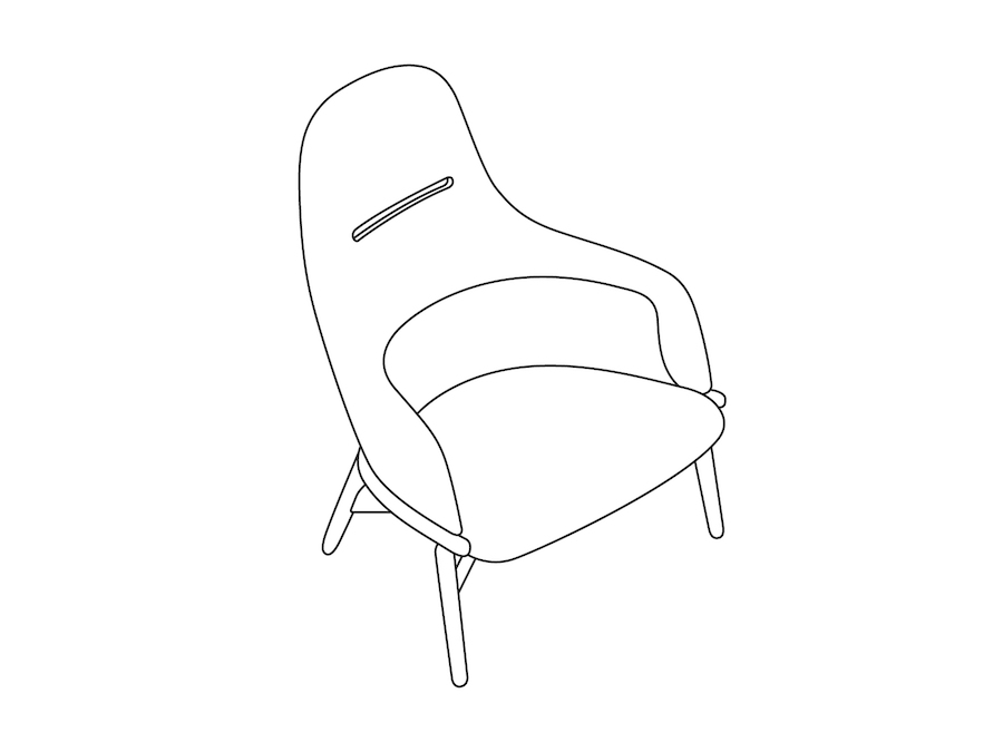 A line drawing - Reframe Lounge Chair – High Back