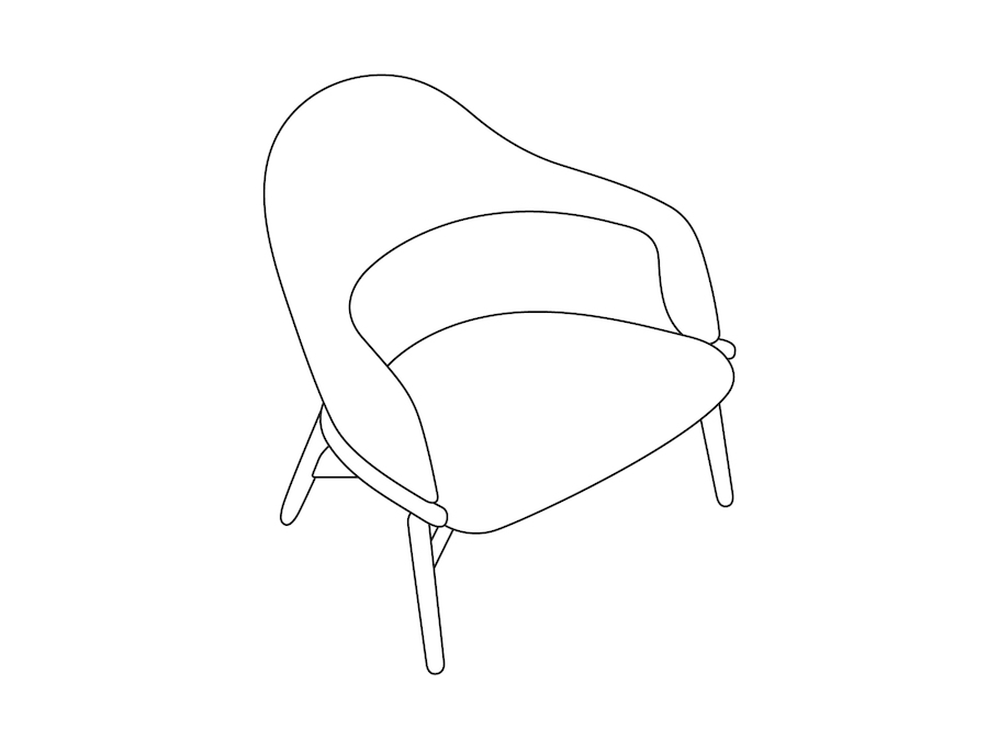 A line drawing - Reframe Lounge Chair – Mid Back