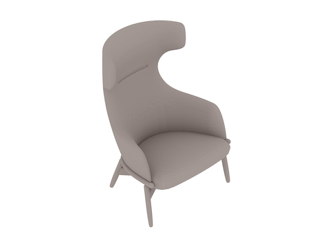 A generic rendering - Reframe Lounge Chair – Wing Back