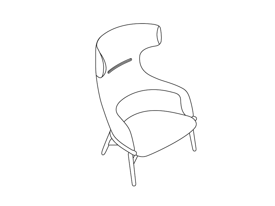 A line drawing - Reframe Lounge Chair – Wing Back