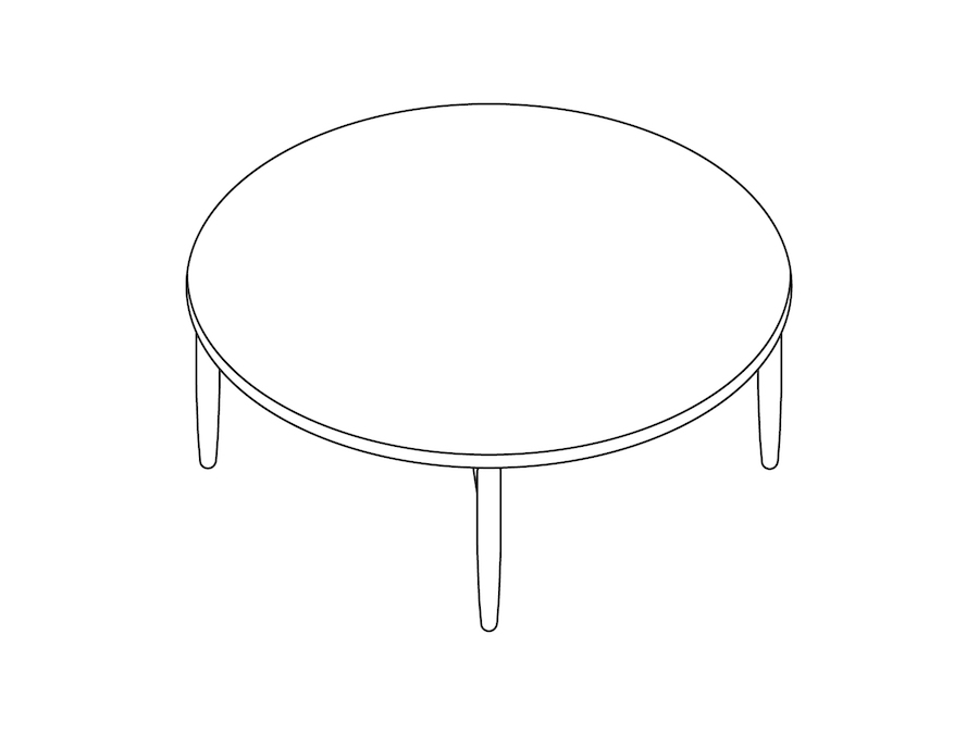 A line drawing - Reframe Table–Round