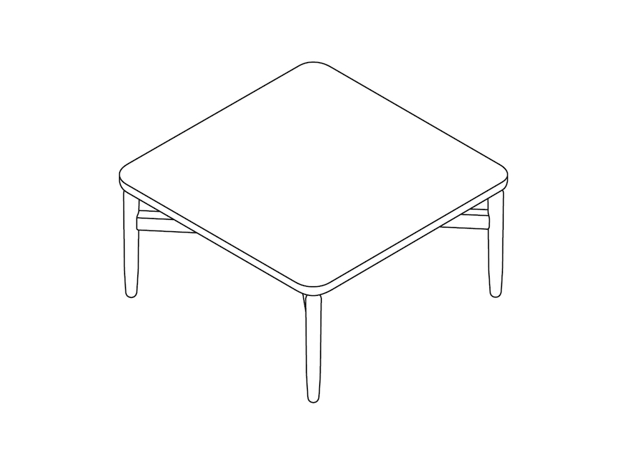 A line drawing - Reframe Table–Square