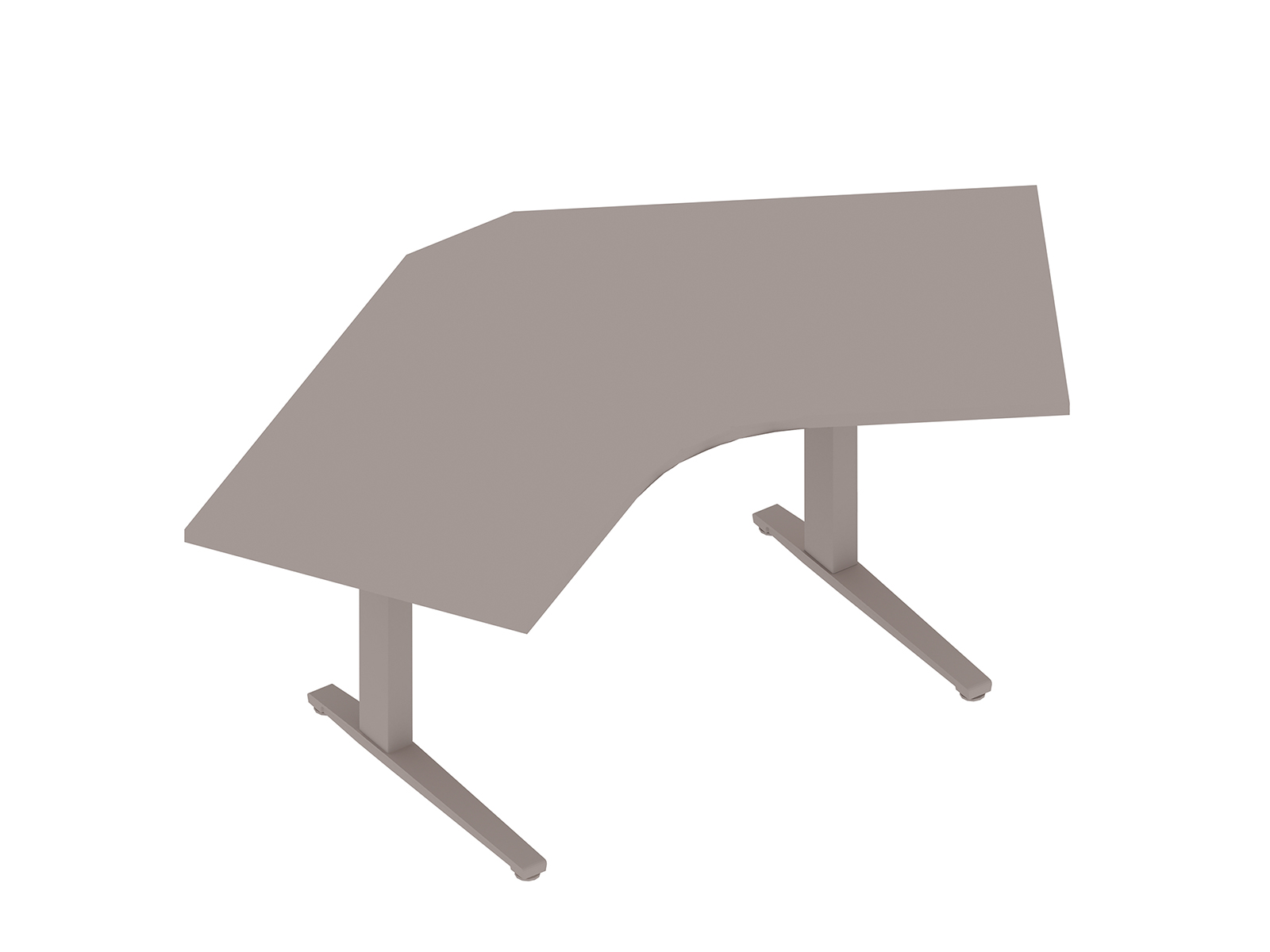 A generic rendering - Renew Sit-to-Stand Table–120 Degree Corner