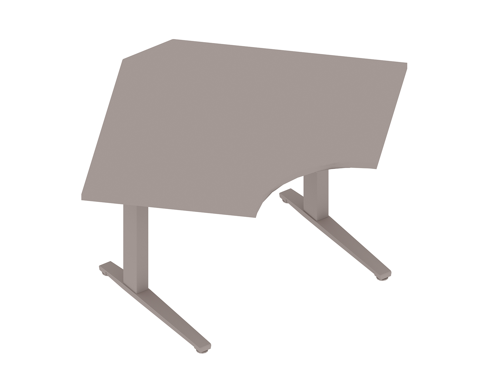 A generic rendering - Renew Sit-to-Stand Table–90 Degree Corner