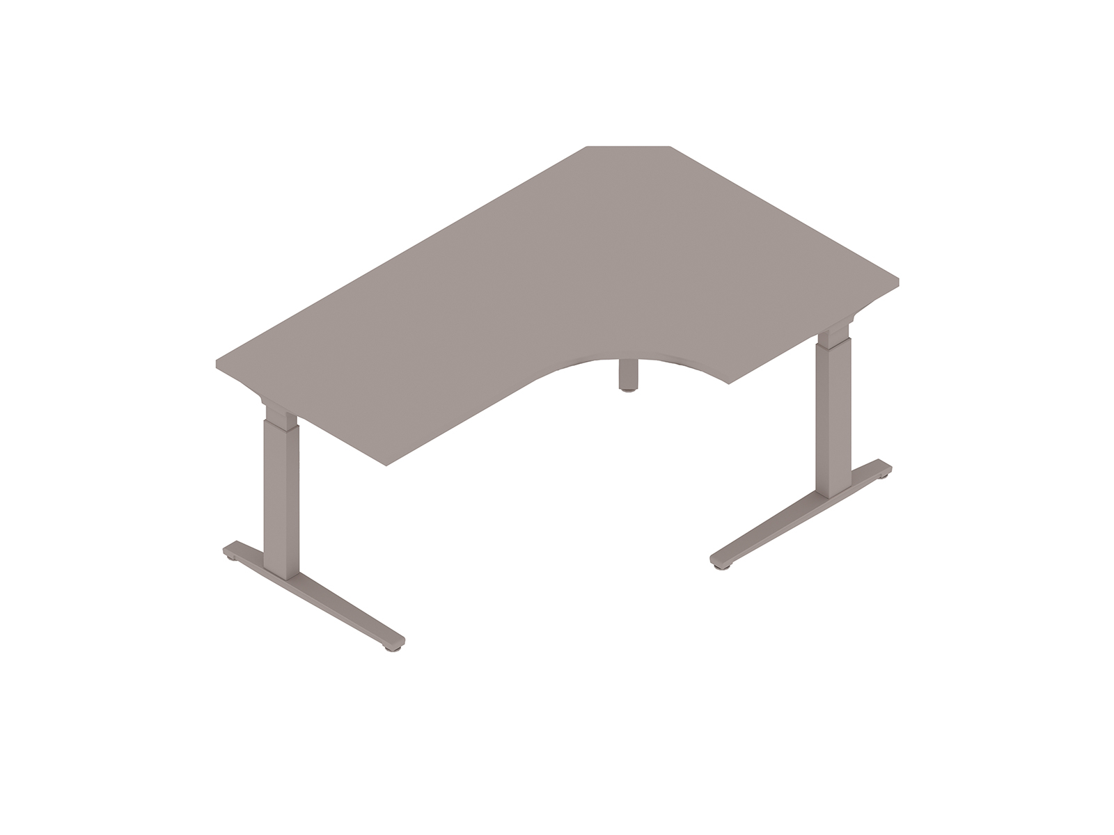 A generic rendering - Renew Sit-to-Stand Table–Extended Corner