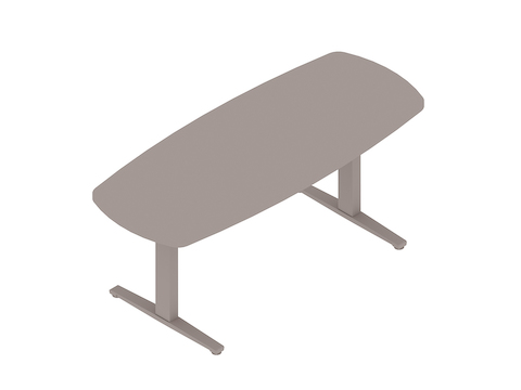 A generic rendering - Renew Sit-to-Stand Table–Oval