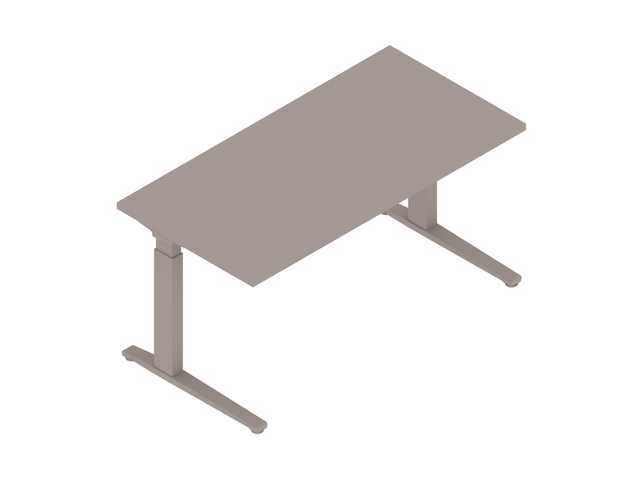 A generic rendering - Renew Sit-to-Stand Table–Rectangular–C Foot