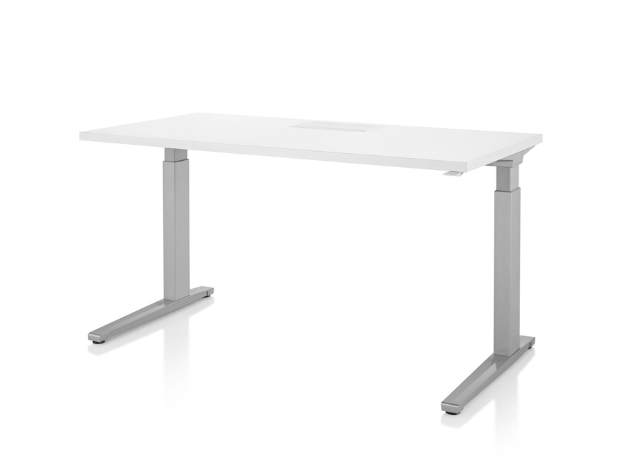 A photo - Renew Sit-to-Stand Table–Rectangular–C Foot